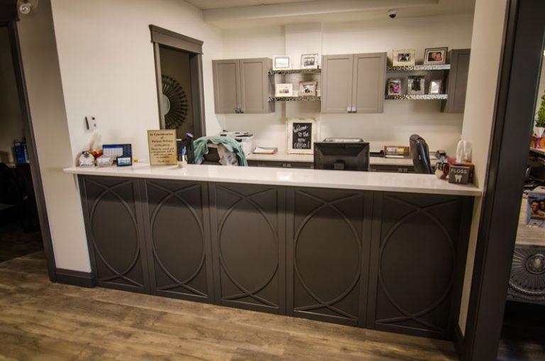 Painted Reception Desk